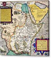 African Map, 1595 Canvas Print