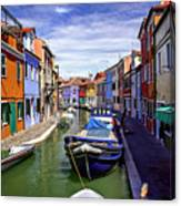 0045 Burano Colors 2 Canvas Print