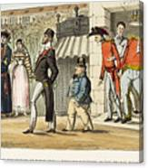 Paris Occupation, 1814 Canvas Print