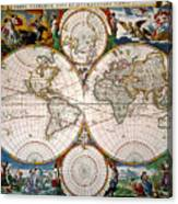 World Map, 17th Century Canvas Print
