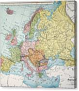 Map: Europe, 1885 Canvas Print