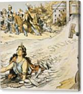 Free Silver Cartoon, 1890 Canvas Print