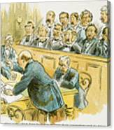 Litigation Cartoon Canvas Print