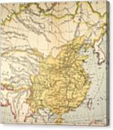 Map: China, 1910 Canvas Print