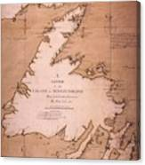 Cook: Newfoundland, 1763 Canvas Print