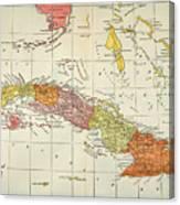 Map: Cuba, 1900 Canvas Print