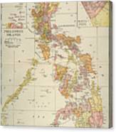 Map: Philippines, 1905 Canvas Print