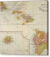 Map: Hawaii, 1905 Canvas Print