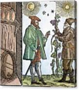 Wine Merchant, 1582 Canvas Print