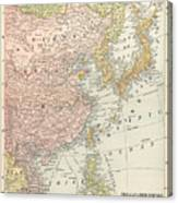 Map: East Asia, 1907 Canvas Print