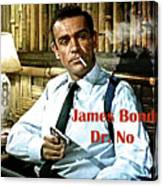 007, James Bond, Sean Connery, Dr No Canvas Print
