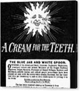Fonweiss Toothpaste, 1887 Canvas Print