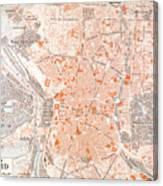 Spain: Madrid Map, C1920 Canvas Print