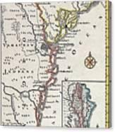 Map: North America, C1700 Canvas Print