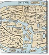 World Map 2nd Century Canvas Print