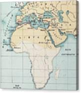 Map: Phoenician Empire Canvas Print
