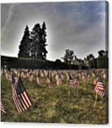 01 Flags For Fallen Soldiers Of Sep 11 Canvas Print