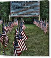 010 Flags For Fallen Soldiers Of Sep 11 Canvas Print