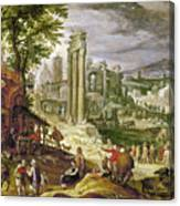 Roman Forum, 16th Century Canvas Print
