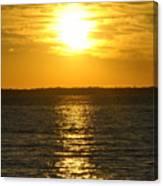013 Sunset 16mar16 Canvas Print