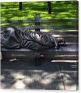 02 Homeless Jesus By Timothy P Schmalz Canvas Print