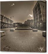 02 Plaza Of Stars Sepia Tone  Canvas Print