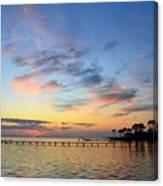0201 Sunset Wisps On Sound Canvas Print