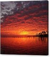 0205 Awesome Sunset Colors On Santa Rosa Sound Canvas Print