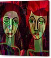 039   Two Pensive Women A Canvas Print