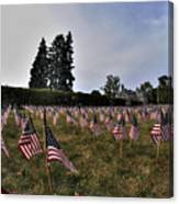 04 Flags For Fallen Soldiers Of Sep 11 Canvas Print