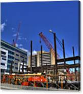 05 Medical Building Construction On Main Street Canvas Print
