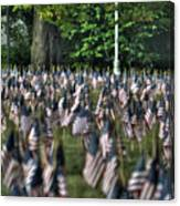 06 Flags For Fallen Soldiers Of Sep 11 Canvas Print
