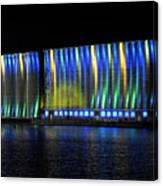 06 Grain Elevators Light Show 2015 Canvas Print