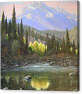 060409-2430  Long Scraggy Mountain - Reflections   Canvas Print