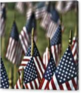 07 Flags For Fallen Soldiers Of Sep 11 Canvas Print