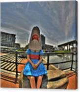 07 Shark Girl Canvas Print