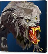 073. Once A Werewolf Always A Werewolf Canvas Print
