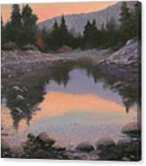 080110-2016  Sundown Reflections Canvas Print
