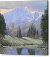 080324-4030 Breaking Through - Pikes Peak Canvas Print