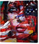 089 Flag And Eyes Canvas Print