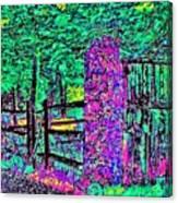 08f  Fences Of Maine Canvas Print