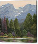 090817-1114  Ripples and Reflections - Sprague Lake Canvas Print