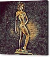 0957s-zac Fit Black Dancer Standing On Platform Canvas Print