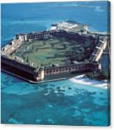 Fort Jefferson In The Gulf Of Mexico Canvas Print