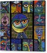13 Faces  Canvas Print