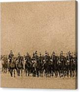 180 Degrees Panorama Troops Passing In Review No Date Or Locale Restored Color Added 2008 Canvas Print