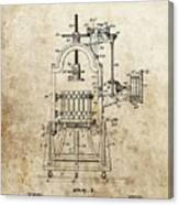 1903 Wine Press Patent Canvas Print