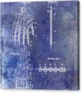 1911 Mechanical Skeleton Patent Blue Canvas Print