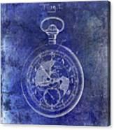 1916 Pocket Watch Patent Blueprint Canvas Print