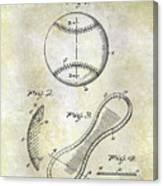 1924 Baseball Patent Canvas Print